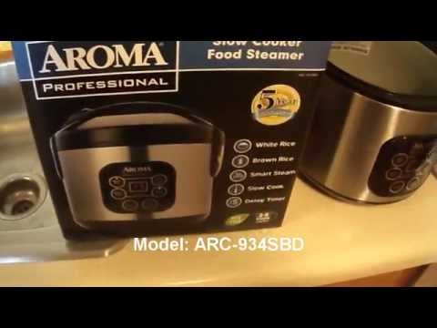 Aroma Professional Rice Cooker  Model: ARC-934SBD