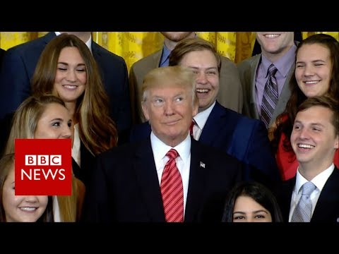 What made Trump roll his eyes?- BBC News