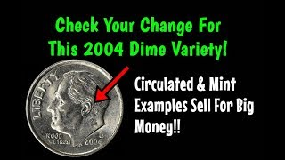 Download HUGE 2004 Roosevelt Dime Variety You Can Find In Pocket Change! - Valuable In All Grades! Video
