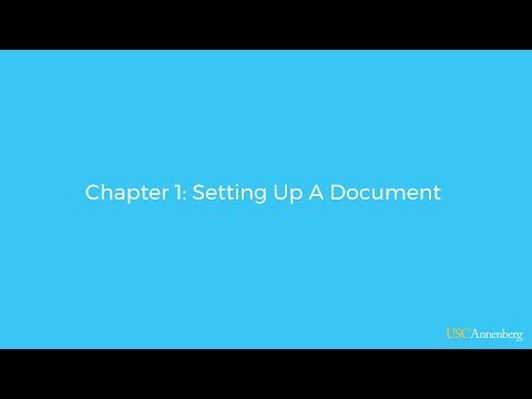 Module 2, Chapter 1: Setting Up A Document