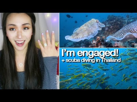 Yes I'm ENGAGED!! (+ scuba diving in Thailand) 💖 ARTIST VLOG 37