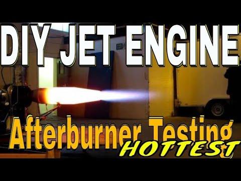 Afterburner test jet engine, MX MONSTER II , , Homemade Gas turbine engine