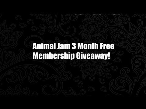 Animal Jam 3 Month Free Membership Giveaway!!!! (Current 2015)