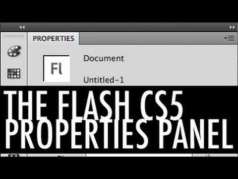 The Flash CS5 Properties Panel