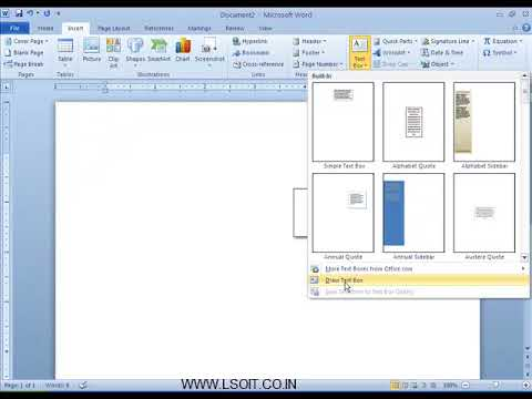 Text Group in Insert Tab Ms Word  Video Tutorials in Hindi - LSOIT.COM
