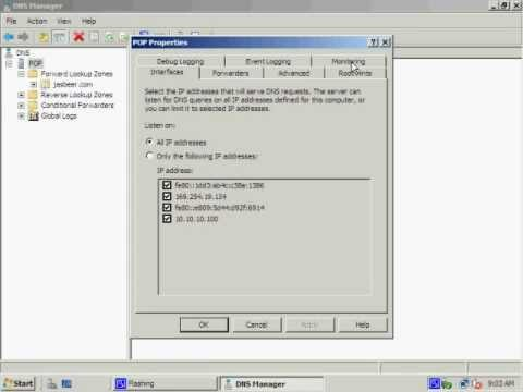 how to Primary Secondary DNS Zone Transfer Server 2008