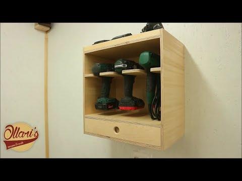 Making a Cordless Tool Storage / Charging Station