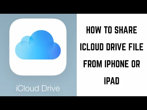 How to Share iCloud Drive File from iPhone or iPad
