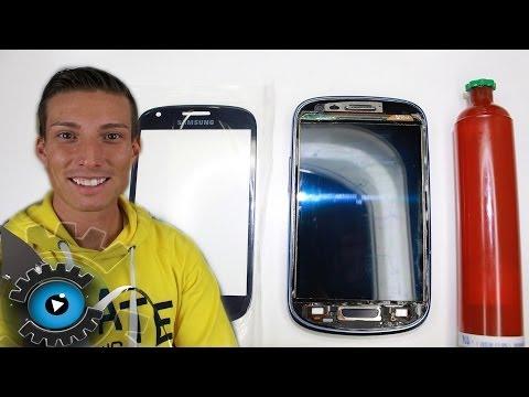 Samsung Galaxy S3 Mini Glas Vollverklebung mit LOCA UV Kleber unter20€ reparieren[Deutsch] Loca Glue
