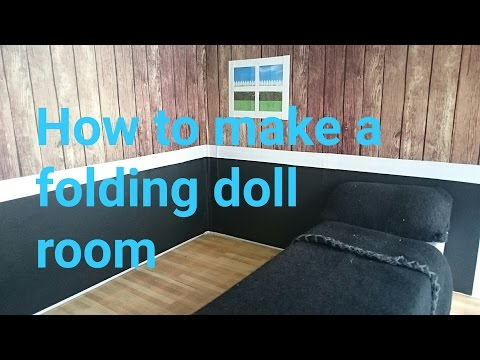 How to make a folding doll room.