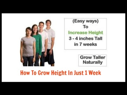 How To Grow Height In Just 1 Week/How To Grow Taller - Be Taller 4 Inches In Only 1 Weeks