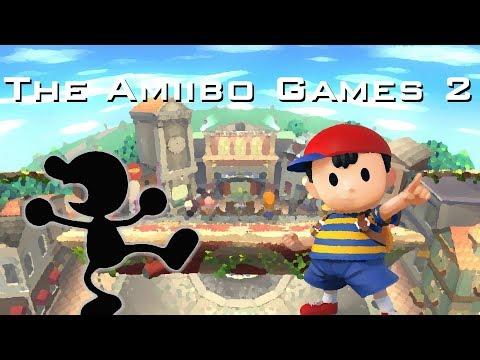 The Amiibo Games 2 - Round 2 Set 3   14/M/Onett (Ness) vs. HammerBro (Mr. Game and Watch)