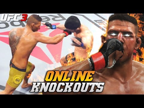 EA UFC 3: Rafael dos Anjos With Explosive Knockouts! Lowkey BEAST! EA Sports UFC 3 Online Gameplay