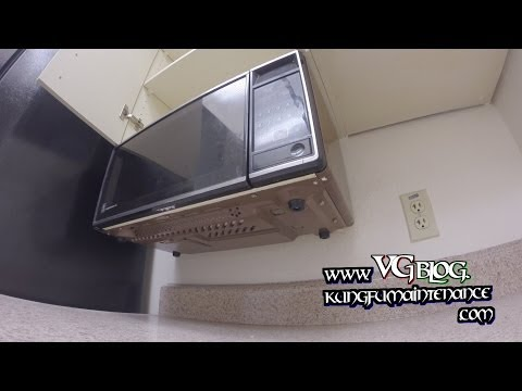 Easy Way How To Take Down Or Mount Under The Cabinet Counter Top Space Making Microwaves