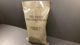 1979 Food Packet Long Range Patrol Ration Vintage MRE Review Meal Ready to Eat Taste Test