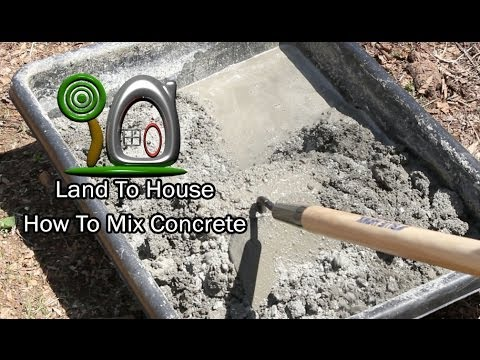 How To Mix Concrete