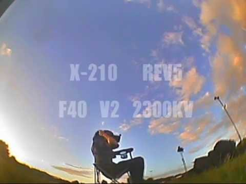 X-210 FPV acro practice at Calday Rugby Club.