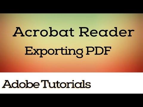 Exporting PDF, Save as, Different Formats, Reader, Acrobat Reader Tutorials