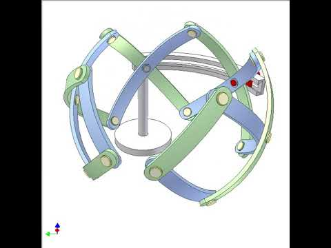 Spherical scissor mechanism 1a