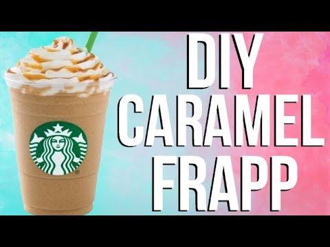 DIY Starbucks Caramel Frappuccino!