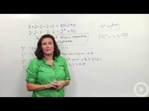 Exponents - Integers - Brightstorm Pre-algebra