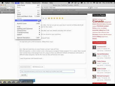 How to Copy and Paste a link on iMac