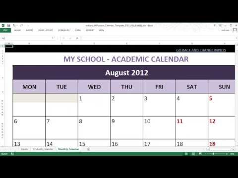 All-Purpose Calendar Maker (Excel Template)