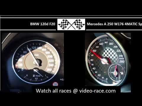 BMW 120d F20 VS. Mercedes A 250 W176 4MATIC Sport - Acceleration 0-100km/h