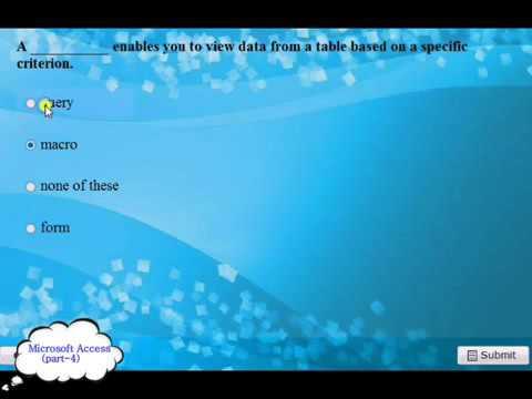 Microsoft Access 200720102013 2014 Exam Q and A pt 4