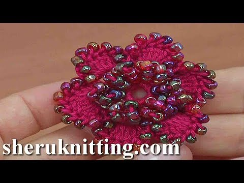 How to Make Beaded 6-Petal Flower Tutorial 156