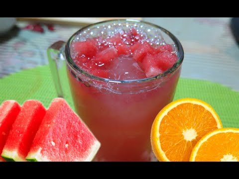 How to Make Watermelon & Orange Juice - Panlasang Pinoy Easy Recipes