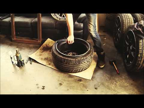 Low profile car tire tyre removal - DIY (by hand) BBS rc301 10j 245/35-18