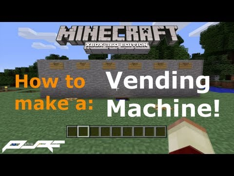 How to Make a Simple Vending Machine in Minecraft! [Xbox]