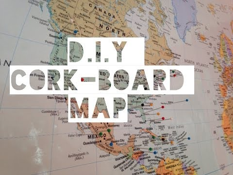 D.I.Y Cork-Board Map