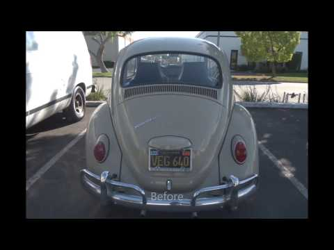 1966 Volkswagen Beetle Paint Color Restoration