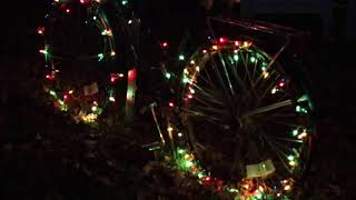 by shellie at christmas light source multi color chasing lights bicycle wheels