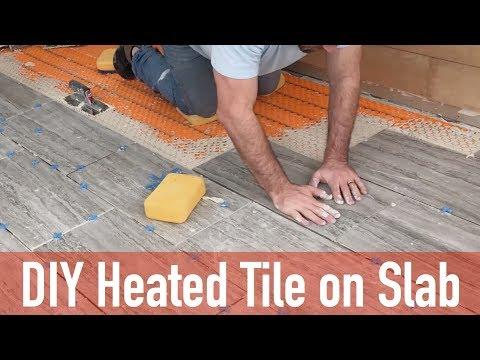DIY Heated Tile Floor on Slab