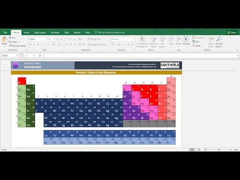 Periodic Table Worksheet - Printable Excel Template