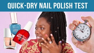 Women Test Quick-Dry Nail Polishes