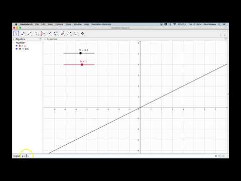 Geogebra Introduction 1 - Creating A Line using sliders