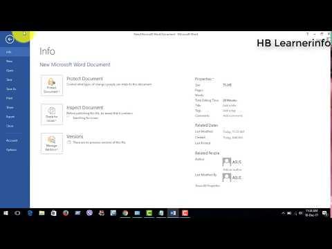 Ribbon Bar Hide Or Un hide in ms Microsoft Word 2016,2013,2010,2007 || bangla tutorial