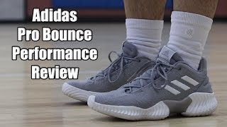 a5e9255968a Adidas Pro Bounce 2018 Low Performance Review! NEW ADIDAS TEAM MODEL