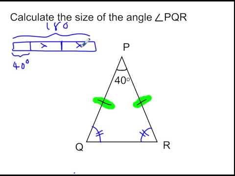 Angle problem   isosceles triangle