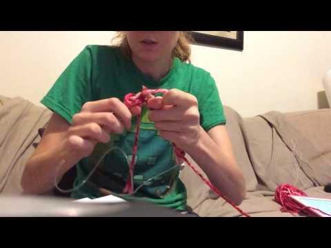 Knitting flat on circular needles