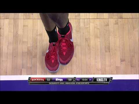 James Harden Shoots Foul Shots on One Leg