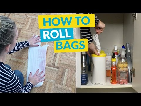 How To Roll Plastic Bags