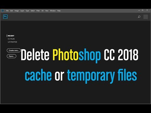 Delete Photoshop CC 2018 cache or temporary files