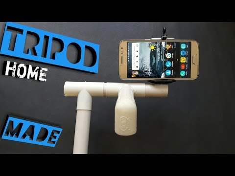 how to make  tripod for smartphone using PVC pipe