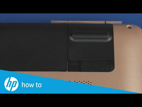 Removing and Replacing the Battery on the HP Pavilion 17-ab001 Notebook