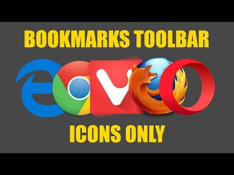 How To Show Icons Only On Your Bookmarks Bar In Your Browser